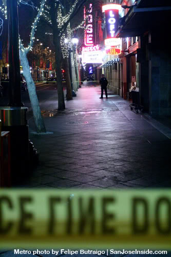 Second Street was closed off for the investigation of the officer-involved shooting.