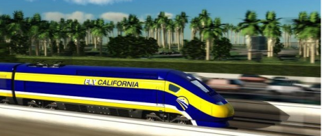 The stimulus package working its way to the president's desk contains $8 billion for high speed rail, including a hefty sum for the line linking San Jose and LA.