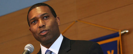 Assistant U.S. Attorney General Tony West spoke Wednesday at a Rotary Club lunch meeting.
