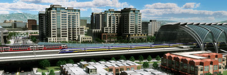 Diridon Station circa 2020, according to a plan by the California High Speed Rail Authority.