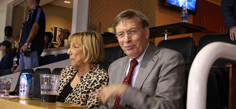 MLB Commissioner Bud Selig, right, is taking his sweet time on deciding if the Oakland A's should be allowed to relocate to San Jose. (Photo courtesy of mokiefl via Flickr.)