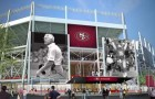 A graphic rendering of what the San Francisco 49ers' new stadium, in Santa Clara, will look like upon completion.