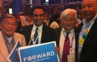 Former San Jose Councilmember and Mayor Norm Mineta (from left), Councilmember Ash Kalra, U.S. Congressman Mike Honda, and former District 2 Councilmember Forrest Williams  found time to catch up at the Democratic National Convention last week.
