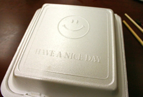 San Jose joined dozens of other cities in California by moving forward with a phased-out ban of expanded polystyrene (EPS) to-go containers from restaurants. (Photo by dotpolka, via Flickr)
