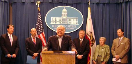 Bill Bagley, center, helped lead the change to an open-primary system in California during his time in the State Assembly.