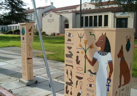 The art boxes, designed by Michele Waters, can be found in at Park and Naglee.