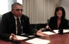 County CFO Vinod Sharma, left, and Controller-Treasurer Irene Lui face close scrutiny after they reportedly ignored audits while former county Supervisor George Shirakawa misused public funds.