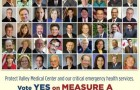 A flyer with pictures of elected officials who in 2012 supported Measure A, the 1/8th cent county sales tax increase that will collect $500 million over 10 years.