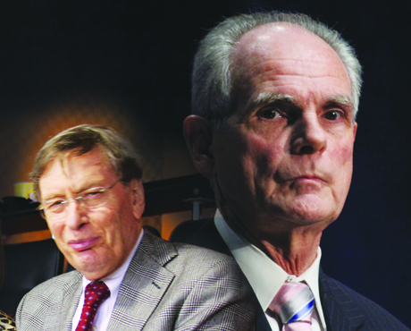 Baseball commissioner Bud Selig, left, refused to meet with San Jose Mayor Chuck Reed about the Oakland A's relocating to San Jose. Now the commish could find himself meeting with San Jose's attorneys in court.