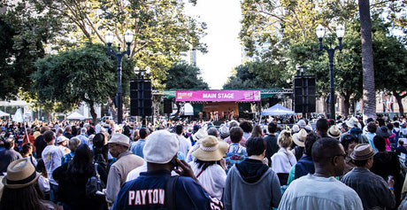 Thousands of people flooded into downtown San Jose last weekend to attend the annual Jazz Festival. (Photo by Geoffrey Smith II)