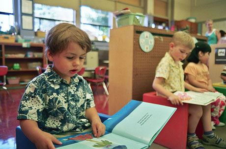 Studies show that children who transition from high quality preschool into kindergarten have better results in their schooling and careers. (Photo by cafe mama, via flickr)