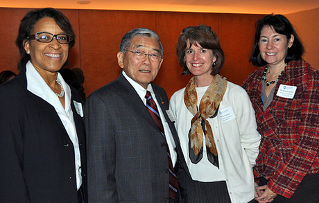 Norm Mineta, second from left, has helped numerous elected officials along the way.