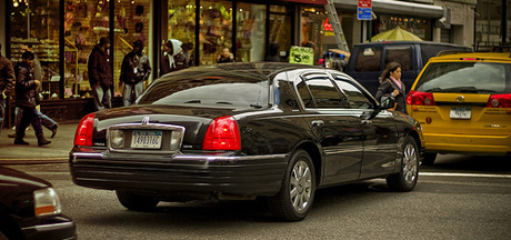 """In a recent example of """"rentseekers"""" trying to eliminate competition, established taxi companies are targeting innovative companies like Uber. (Photo by Luke Roberts, via Flickr)"""