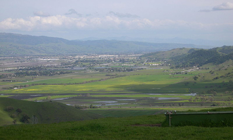 Local developers want to sell the city of San Jose property in Coyote Valley (pictured) in exchange for changing land-use requirements for other areas.