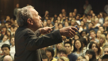 "Robert Reich delivers a presentation about the U.S. economy in his new documentary, ""Inequality for All."" (Photo courtesy of ""Inequality for All,"" via Wikipedia)"