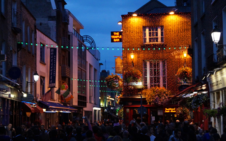 A group of San Jose city officials will travel to Dublin, Ireland, as part of the 'Sister City' program. A drop by the Temple Bar district could be in order. (Photo by Ian Stannard, via Flickr)