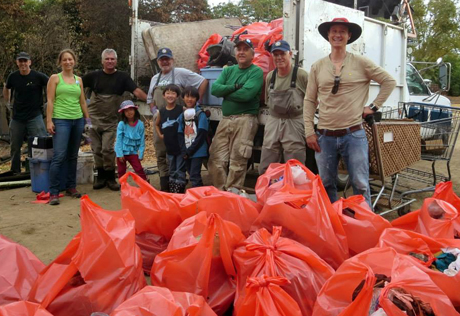 This crew of volunteers pulled dozens of bags wroth of debris, garbage and pollutants from underneath the Willow Glen Trestle that crosses the Los Gatos Creek. Much of the litter came from a homeless encampment that used the creek as a dumping ground.