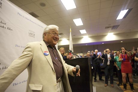 Mike Honda, vice chair of the Democratic National Committee, knows how to rally the base, but will that be enough?