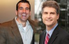 San Jose Councilman Sam Liccardo, left, has been getting plenty of support in his bid for mayor from friend and Silicon Valley Leadership Group CEO Carl Guardino.