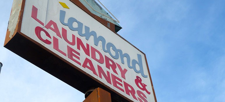 Diamond Laundry and Cleaners was one of dozens of San Jose businesses sued by a wheelchair-bound Southern California man who says the buildings aren't handicap-accessible. (Photo by Jennifer Wadsworth)
