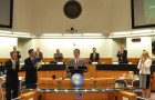 Mike Wasserman delivered his Sate of the County speech on Tuesday. (Photo courtesy of Santa Clara County)