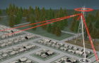 This graphic demonstrates how Stingray technology works, acting as a cell tower to scoop up nearby cell phone data.