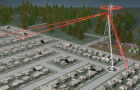 A graphic demonstrates how Stingray technology works, acting as a cell tower to scoop up cell phone data.