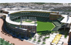 A artist's rendering shows what the A's new stadium would look like were it to get built in San Jose.