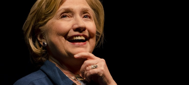 Hillary Clinton has a commanding lead over Donald Trump, according to a new poll of likely Silicon Valley voters. (File photo by Tony Contini)