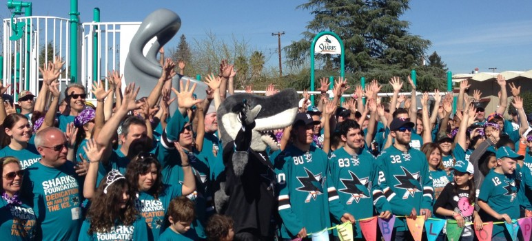 The San Jose Sharks Foundation played a huge role in helping to create Pueblo Play Playground.