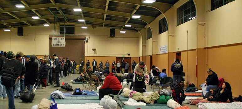 On an average night, 136 people seen shelter at the Sunnyvale Armory.