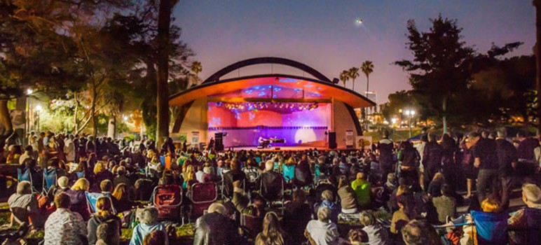 This artist's rendering of the Levitt Pavilion in Los Angeles is an example of what St. James Park could become.