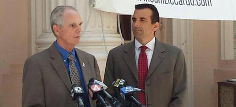 San Jose Mayor Chuck Reed endorsed council ally Sam Liccardo on Monday.