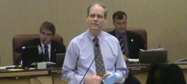 Pat Meyering during his swearing-in ceremony in 2012.