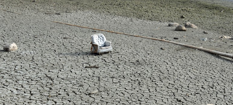 Droughts will become more common in the future, and California's water supply is only expected to shrink, as seen here at Almaden Resevoir. / Photo by JO-LYNN OTTO