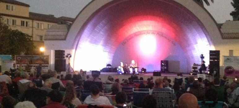 The Levitt Pavilion in Pasadena's Memorial Park brought out a huge crowd last weekend.