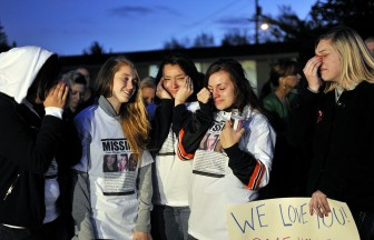 Washington High School students held a  vigil for former classmate Sierra LaMar shortly after her disappearance in March 2012.