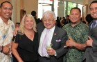 A congressional ethics probe doesn't reflect well on Congressman Mike Honda, center, and his chief of staff Jennifer Van der Heide, second from left. (Photo via Facebook)