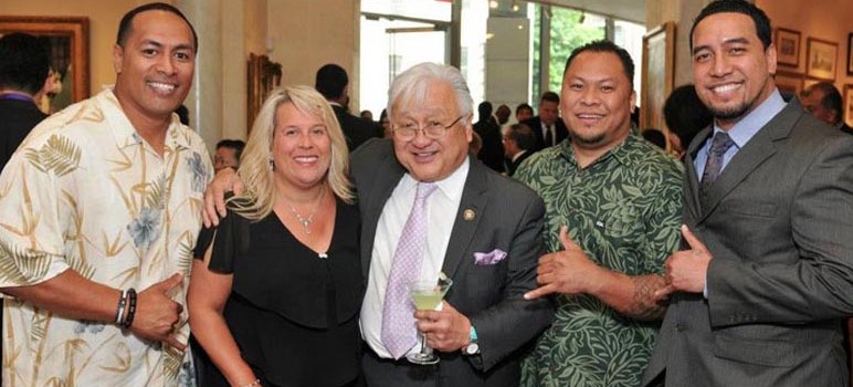 A new email confirms the office of Mike Honda, center, and his chief of staff Jennifer Van der Heide, second from left, coordinated campaign activities with official business on taxpayer time. (Photo via Facebook)