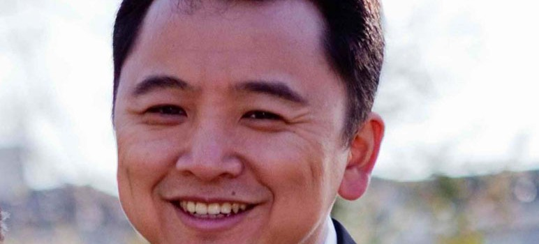 Chris Zhang is one of four candidates running for two seats on the Cupertino Union School District board of education. (Photo via www.chriszhang.org)