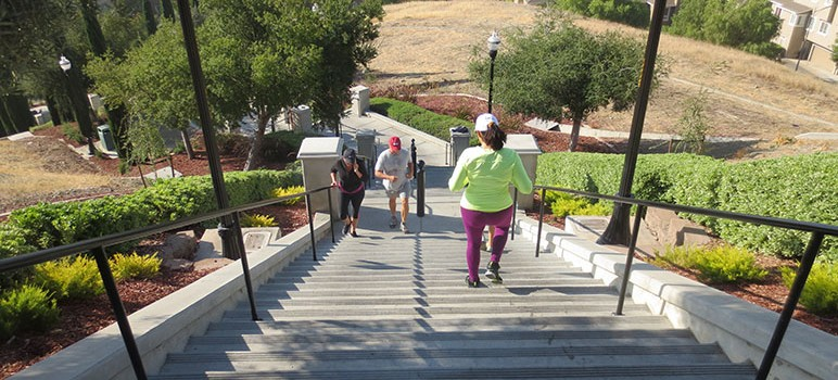 Residents of the south San Jose development say they're fed up with the crowds that flock to their Grand Staircase. (Photo by Jennifer Wadsworth)