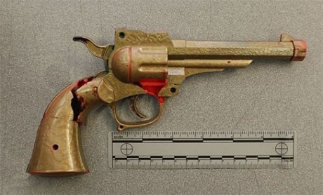 This is the toy gun San Jose police officers believed was real when they shot Javier Gonzales-Guerrero at least 20 times.