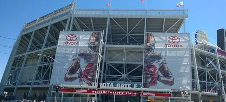 Santa Clara's new football stadium will be the host site for next year's Super Bowl. (Photo via Facebook)