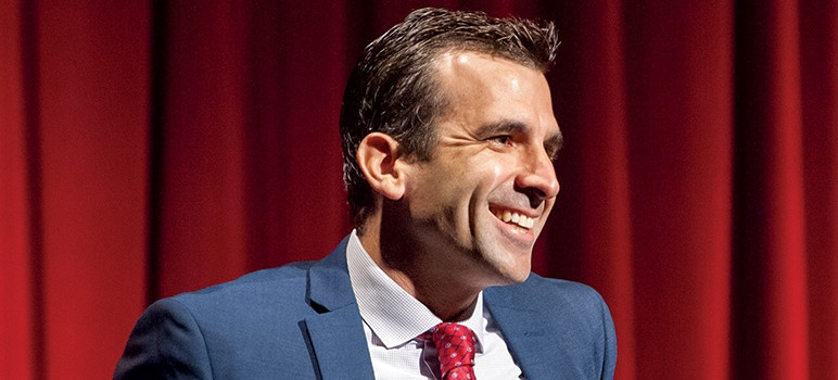 Mayor Sam Liccardo took an active role in facilitating a meeting earlier this week between education stakeholders in San Jose. (File photo)