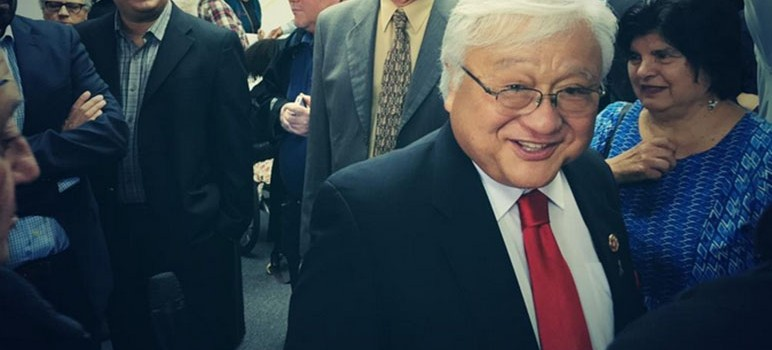Rep. Mike Honda claimed the win in the CA-17 race. (Photo by @robertrlucas, via Twitter)