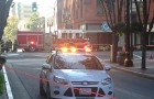 A two-block area of downtown was evacuated Friday morning while PG&E works on capping a gas leak. (Photo by Josh Koehn)