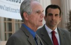 Mayor Chuck Reed, left, will sooon hand the baton to Sam Liccardo, and with it come a host of issues that will need to be resolved. (File photo)