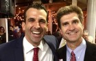 Sam Liccardo, left, and Carl Guardino have a close friendship that is only getting closer as the latter co-chairs the mayor-elect's transition team. (Photo by Dan Pulcrano)