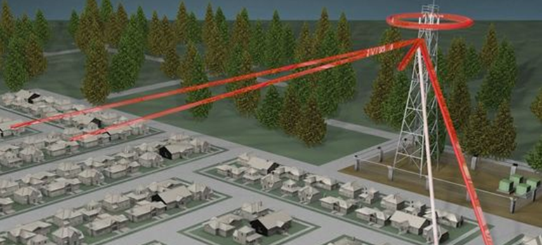 This graphic demonstrates how Stingray technology works, acting as a cell tower to scoop up nearby cell phone data. (Photo courtesy of ABC NEWS10)
