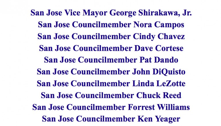 This list of elected officials endorsing Ron M. Del Pozzo was found in an archived page of the judge's 2002 campaign website.